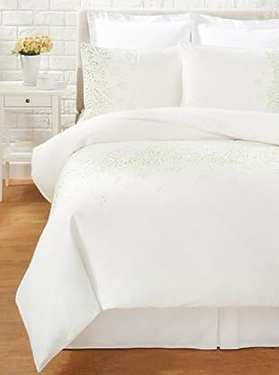 Mélange Home Sprawling Vines Duvet Cover Set (White/Lime)