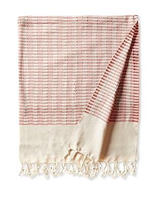 Nomadic Thread Turkish Towel Chic, Natural/Red