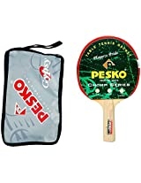PESKO GYPSY Unisex Table Tennis Racquet with Cover, Standard