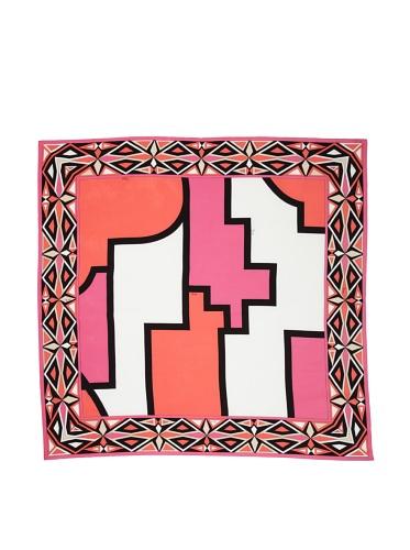 Emilio Pucci Women's Geometric Square Scarf (Coral)