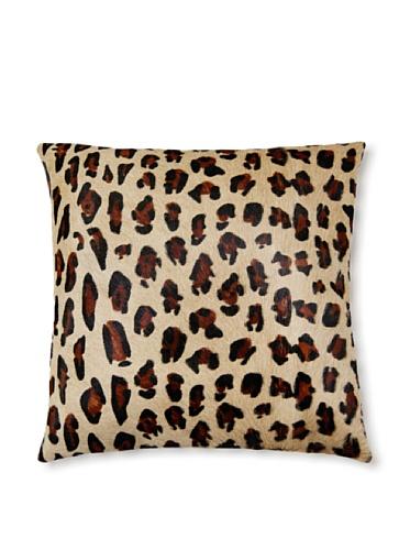 Natural Torino Cowhide Pillow (Leopard Print)