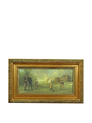 Framed Reproduction Golf Art Painting