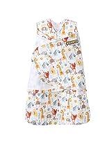 HALO SleepSack 100% Cotton Swaddle, Yellow Jungle Pals Fun, Newborn