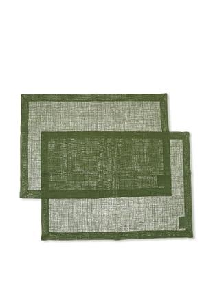 Villeroy & Boch Pack 2 manteles ondividuales lino verde