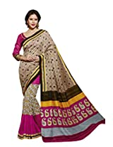 Beige Color Art Bahgalpur Silk Saree with Blouse 12527