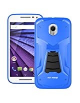 Moto G 3rd Generation Back Cover / Case - Moto G3 Back Cover / Case - TransArmor TPU Back Cover with Kick Stand for Motorola Moto G3 / Gen 3 - Cool Blue