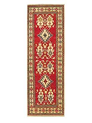 eCarpet Gallery One-of-a-Kind Hand-Knotted Gazni Rug, Red, 3' x 9' Runner