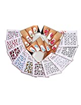 Nail Art Water Slide Tattoo Stickers Decals Immense Designs: Flowers / Leaves / Butterflies / Humming Birds / For An Elegant Manicure 10 Pack /Ldii/