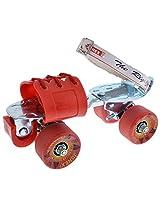 JJ Jonex Zinc Coated Iron Skating Shoes (Red, Adjustable)