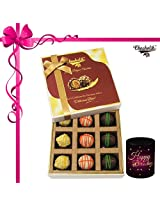 9pc Admiring Choco Treat With Mug - Chocholik Belgium Chocolates