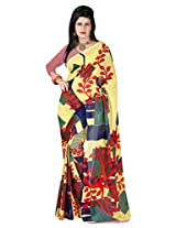 Yashika Exclusive Printed Red Faux Georgette Saree-SSTPDS106