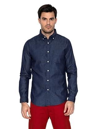 Springfield Camisa Denim Oscuro (Azul Marino)