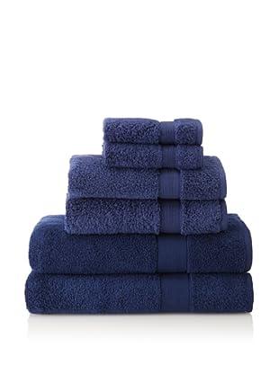 Espalma 6-Piece Signature Bath Towel Set, Navy