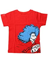 Bumkins Dr. Seuss Short Sleeve Toddler Tee, Red Thing 1, 5T