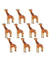 Generic 10Pcs Giraffe Miniature Dollhouse Bonsai Craft Garden Plastic Landscape DIY