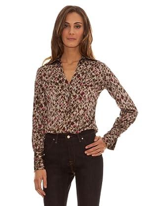 Trussardi Camisa Estampada (marrón)