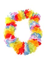 WeGlow International Thick Multicolor Hawaii Flower Lei (Pack of 3)