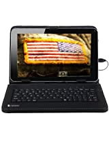 "SANOXY® Wired PU LEATHER USB KEYBOARD CASE/COVER STAND FOR ANDROID 8 INCH TABLET PC/ Universal Tablet PC Leather Case with Keyboard Holder + MICRO OTG (8"" Tablet USB 2.0 BLACK)"
