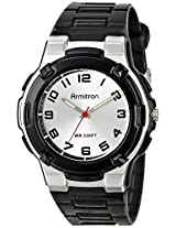 Armitron Sport Unisex 25/6420BLK Easy-to-Read Dial Textured Black Resin Strap Watch