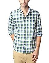 Peter England Green Shirt