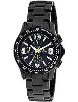 Maxima Chronograph Black Dial Men's Watch - 32530CMGB