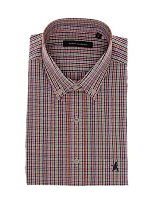 Pierre Clarence Camisa de manga corta (Rosa/Rojo/Multicolor)