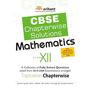 CBSE Chapterwise Questions-Solutions Mathematics, Class 12