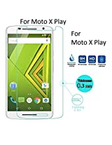 Dashmesh Shopping 0.3mm Anti Explosion Premium Tempered Glass, 9H Hardness Ultra Clear, Anti-Scratch, Bubble Free, Anti-Fingerprints & Oil Stains Coating for Motorola Moto X Play