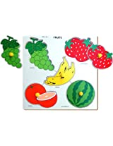Little Genius Fruits Double Layer, Multi Color (Large)
