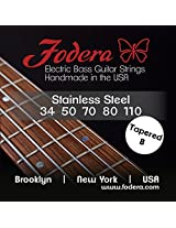 Fodera Electric Bass Guitar Strings, Roundwound 5-String Stainless Steel - 34110 TB