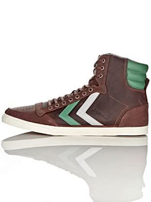 Hummel Zaparillas Abotinadas Ten Star Oiled High Unisex (Marrón/Verde/Gris)