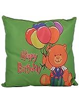 Twisha Happy Birthday Printed Pillow 12 X 12 X 4 Inch