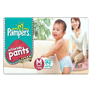Pampers Medium Size Diaper Pants (42 Count)