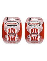 Accoutrements Waxed Bacon Floss 2 Packs