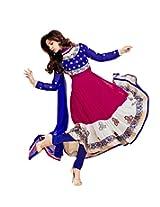 Divyaemporio Women Net Resham Salwar Dress Material (Red/White/Blue Suit _Pink _Free Size)