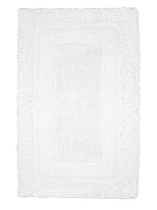 Park B. Smith Deluxe Border Bath Rug (White)