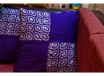 Purple cushion covers