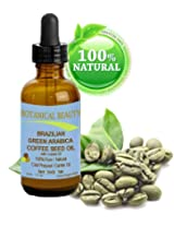 Brazilian GREEN ARABICA COFFEE SEED OIL. 100% Pure / Natural Cold Pressed Carrier Oil for Skin, Hair, Lip and Nail Care. Wrinkle Reducer, Skin Tone /Lift, Anti- Puffiness / Dark Circles, Anti Cellulite. (1 fl.oz-30ml.)