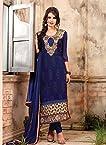 Superb Party Wear Pakistani Blue Straight Suit