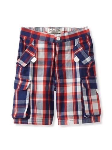 Da Lil Guys Baby Plaid Shorts (Red/Blue Plaid)