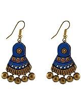 Avarna Terracotta Dangle & Drop Earings For Women ( BlueERB0002)