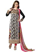 Vibes Women Georgette Salwar Suit Dress Material (V199-5 _Multi-Coloured _Free Size)