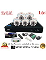AHD LIO 8CH DVR + AHD 1.3 Megapixel High Resolution LIO 36IR DOME CAMERA 5pcs + 1 TB WD HDD + CABLE 3+1 COPPER + POWER SUPPLY (FULL COMBO)