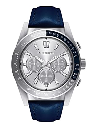K&BROS 9902-2 / Reloj de Caballero  con correa de piel Azul