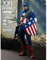 Hot Toys Exclusive 1:6 Scale Collectible Figure Star Spangled Man Version, Multi Color