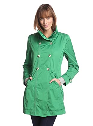 Rainforest Outerwear Women's Packable Double-Breasted Raincoat (Grass)