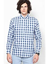 White Checks Sport Fit Casual Shirt