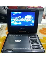 WORLDTECH PORTABLE DVD PLAYER WITH BUILT IN 7 INCHLED TV SUPPORT TV TUNER, USB, SD CARD,AV IN AND AV OUT
