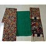 Green Kalamkari Cotton Dress Material With Dupatta