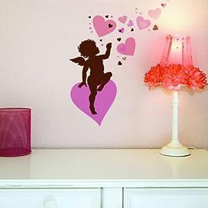 Home Decor Line Cupid Wall Sticker